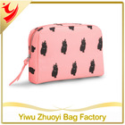 2014 Promotional Cheap Polyester Imprintiable Make up Cosmetic Bags With Mirror