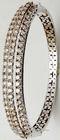 Heavy look diamond bangle bracelet, Precious white gold half bangle design, Newest diamond half bangle supplier