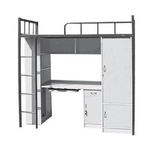 modern school bed with storage cabinet