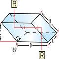 vidrio óptico rhomboid prisma