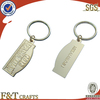 promotional wholesale engraved custom shaped metal keychain
