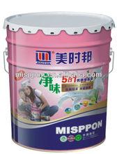 Misppon Waterborne Odorless Decorative White Emulsion Interior Wall Paint(Acrylic Latex Paint)