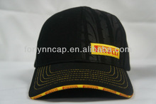 6-panel baseball cap embossed tire pattern