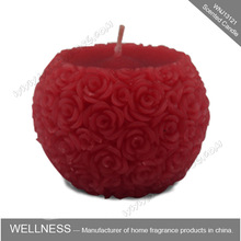 red soy wax ball shaped candle for wedding