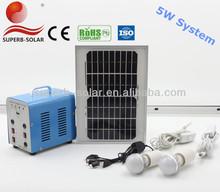 2014 hot portable cheap 5w led silicon solar systems