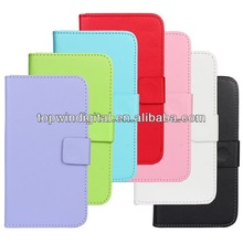 Pretty And Durable Flip Leather Case For Samsung Galaxy S5 I9600 With Card Slot