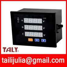 Three phase digital voltmeter or ammeter kwh meter three phase digital