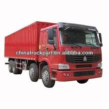 SINOTRUK HOWO cargo van truck /8x4