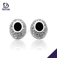 Gorgeous precious stone silver jewelry bridal earrings chandelier