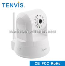 TENVIS 1 mega two way audio wireless P2P pan tilt 720p wireless h.264 digital ip smart cameras