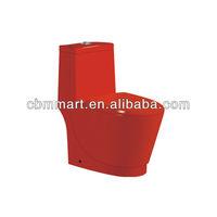 red color ceramic toilet