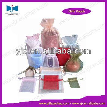 Chep organza drawstring bag