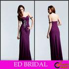 Sweetheart Open Back Ruffle Satin Beaded Ladies Formal Dress Patterns(ED-H009)