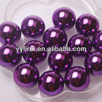 Lovely bling purple color 20MM jewelry acrylic uv coated beads.Wholesale 100pcs/lot jewelry glitter round Christmas beads.