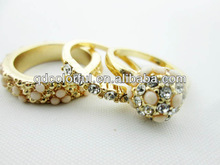 YR0827 jewelry gold ring with diamonds jewelry gold ring gold plated fantasy jewelry