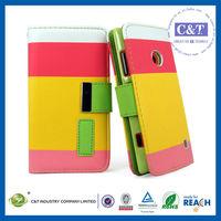 C&T flip leather case cover for nokia lumia 520