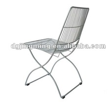 living room contemporary metal wire folding chair