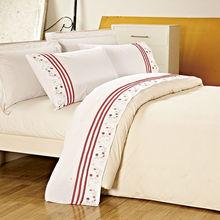 KOSMOS- 100% cotton embroidered applique bed sheet