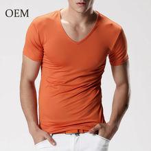 Polyester Spandex Plain Blank Men T-shirts
