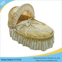 Fashionable cotton baby moses basket