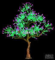 Outdoor decorative christmas led flower tree blossom light