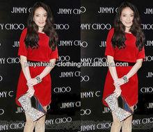 Brand Women European Style New Popular Design Red Dress Evening Wedding Dress