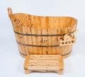 simples e moderno estilo de madeira sólida superfície da banheira