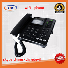 Hot selling 4 line wifi sip desk phone with rj11 and rj45