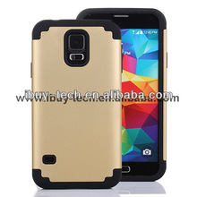 2014 New fashion 2 in 1 design factory cheap mobile phone combo case for galaxy s5