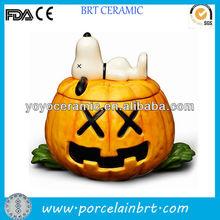 yellow storage food ceramic halloween pumpkins