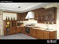 madeira maciça armários de cozinha