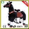 High quality lifelike toy horses,black horse toy,big toy horse