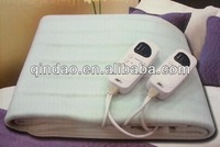 Dual Control Tie Down Electric Heating Blanket with Timer/Adjustable Thermostat