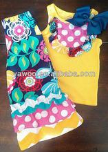hot sale easter girls cotton outfits summer kids clothes sets fashion baby 2 pcs ruffle pants sets floral kids designer sets
