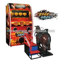 dragonwin coin operated amusement gun shooting game/ simulators kids horse riding machine