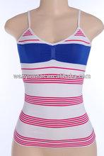 seamless polyamide and spandex lace bottom bulk women tank top