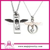hot sell black eagle crystal hollow lock pendant energy 316L stainless steel necklace jewelry