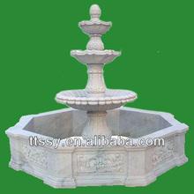 White stone carving fountain