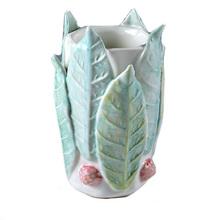 Leafy Tall Porcelain Wedding Vases
