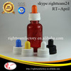 red colored glass bottles sale with childproof dropper for e-liquid
