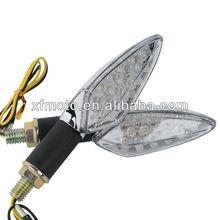 Chrome 2PCS LED Bulbs Turn Signal Lights Indicators For Universal Motorcycle NEW