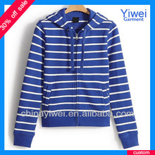 Latest Design Cotton Stripe High Quality Hoodie Selling Guangzhou