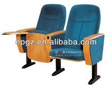 Popular Vip seat folding and movable theater chairs with writing pad