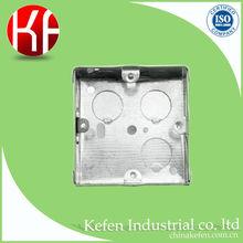 """3 """" por 3 """" 25 mm altura 0.9 mm espessura BS4662 metal interruptor elétrico e caixa de tomada com knock out buraco adjustive lug"""