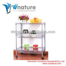 3 layer stainless steel kitchen shelf