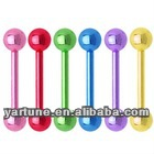 Neon Titaniu Stainles Steel Tongue Babell Tongue Rings Body Jewelry