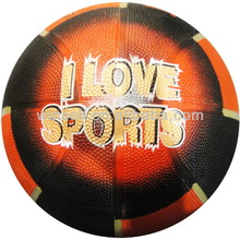 Top selling bottom price rubber basketball with printing logo