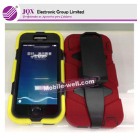 Hot Rugged Assembled Silicone Plastic Combo Case for alcatel 4033 with Stand