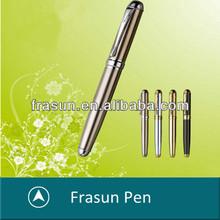 New Arrival 4 Color Brass Barrel Quality Top Logo Roller Ball Pen