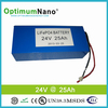 Deep cycle 24V 25Ah lifepo4 battery for car jump starting and electric bus
